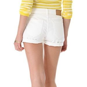 Madewell white denim cut off shorts cuff perfect